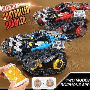 Image 4 - Dhlテクニックシリーズrcトラックの車セットビルディングブロックレンガ教育玩具互換性子供ギフト