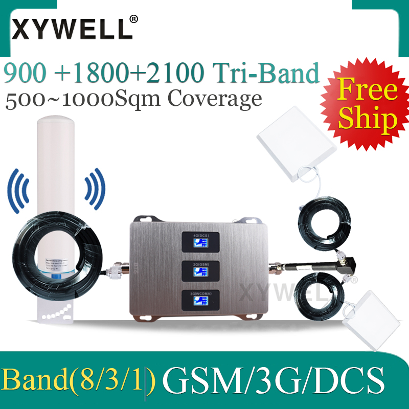Big Cover Cellular Signal Booster 900/1800/2100MHZ LTE GSM Repeater 2G 3G 4g Mobile Signal Booster 4G Antenna For Cell Phone