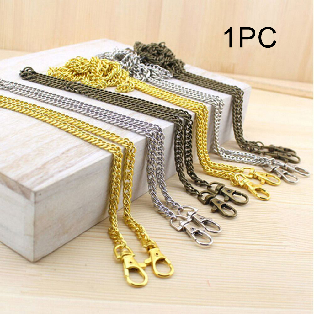 Metal Chains DIY Gold/Silver/Bronze Bag Strap 100CM  Replacement Purse Chain Shoulder Bag Straps For Handbags
