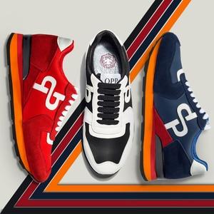 Image 2 - Мужские кроссовки из натуральной кожи, спортивная обувь, новинка 2020