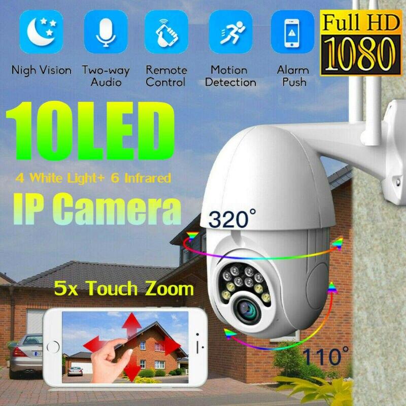 5X Zoom Pan Tilt 1080P HD Security IP IR Camera Outdoor Waterproof Night