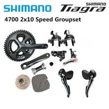 Shimano Tiagra 4700 الطريق 165/170/172.5/175 مللي متر 50 34T 52 36T دراجة دراجة مجموعة كاملة 2x10 سرعة مجموعات شيفتر الفرامل كاسيت سلسلة