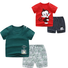 New Summer Children's Clothing Sets Cotton Outfit Baby Boys Shorts + Tshirts Clothes Baby T-Shirts Kids Tops for Gir Clothing