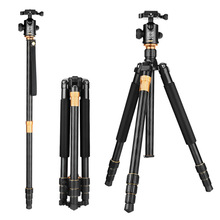 QZSD Q999 المهنية التصوير الفوتوغرافي المحمولة سبائك الألومنيوم السفر ترايبود و Monopod الوقوف مع الكرة رئيس للكاميرا DSLR