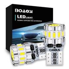 Bombillas LED Canbus 3014 SMD para coche, luz de posición, aparcamiento, Interior, mapa, domo, 12V, blanco, 6500K, 2 uds., W5W, T10