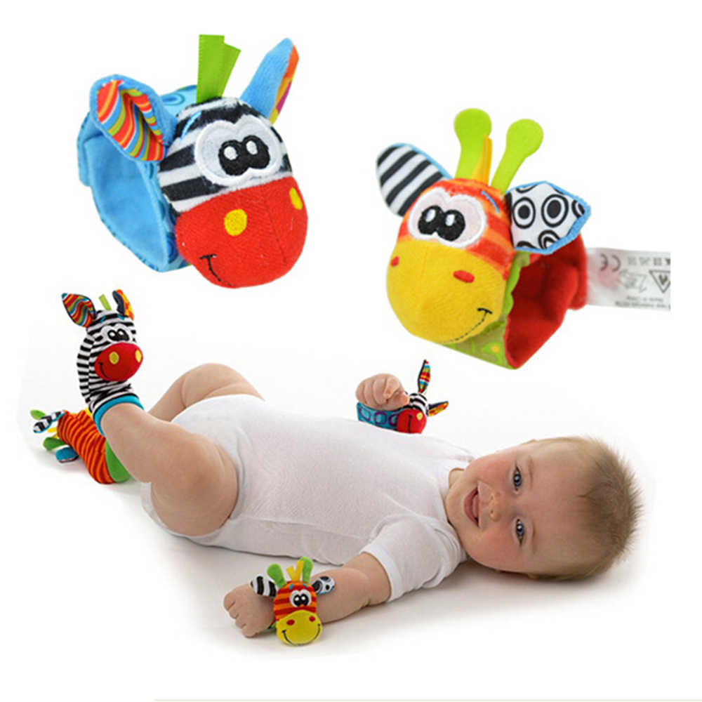 New Arrival Infants Socks Rattles Plush Musical Socks Cartoon Cute Animal Wrist Rattle Baby Rattles 0-24 Months Baby Wholesale