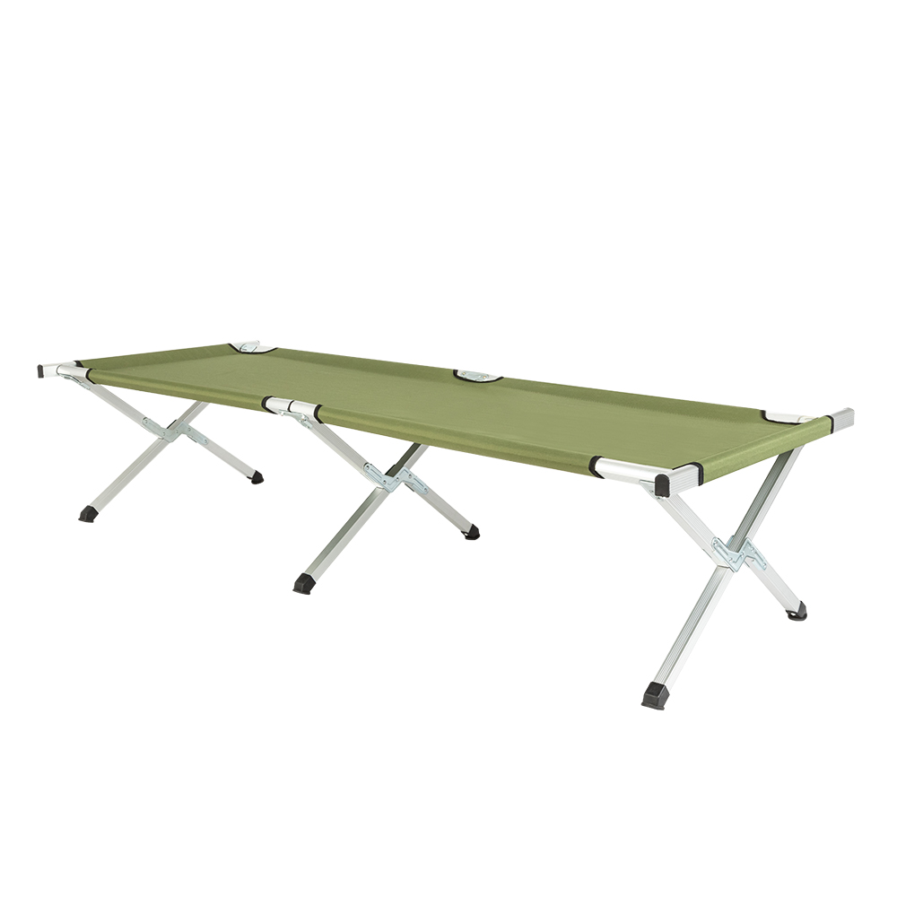 RHB-03A Portable Durable Folding Camping Cot With Carrying Bag Army Green Camp Simple Bed Come With A Bag For Carrying