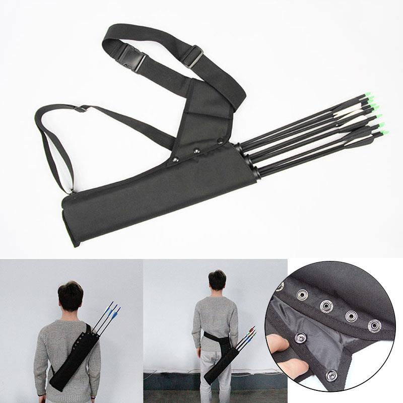 Arrows Holder Bag Bow Quiver Arrow Accessories Shooting 3 Tube Black Archery Field Bowstring Arrow Box Waist Belt Arrow Sac