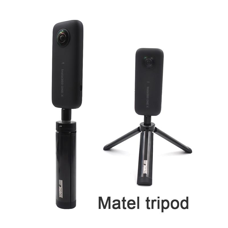 Startrc insta360 one X Accessories spare parts 14cm metal tripod selfie stick Mount For insta360 evo sports Camera