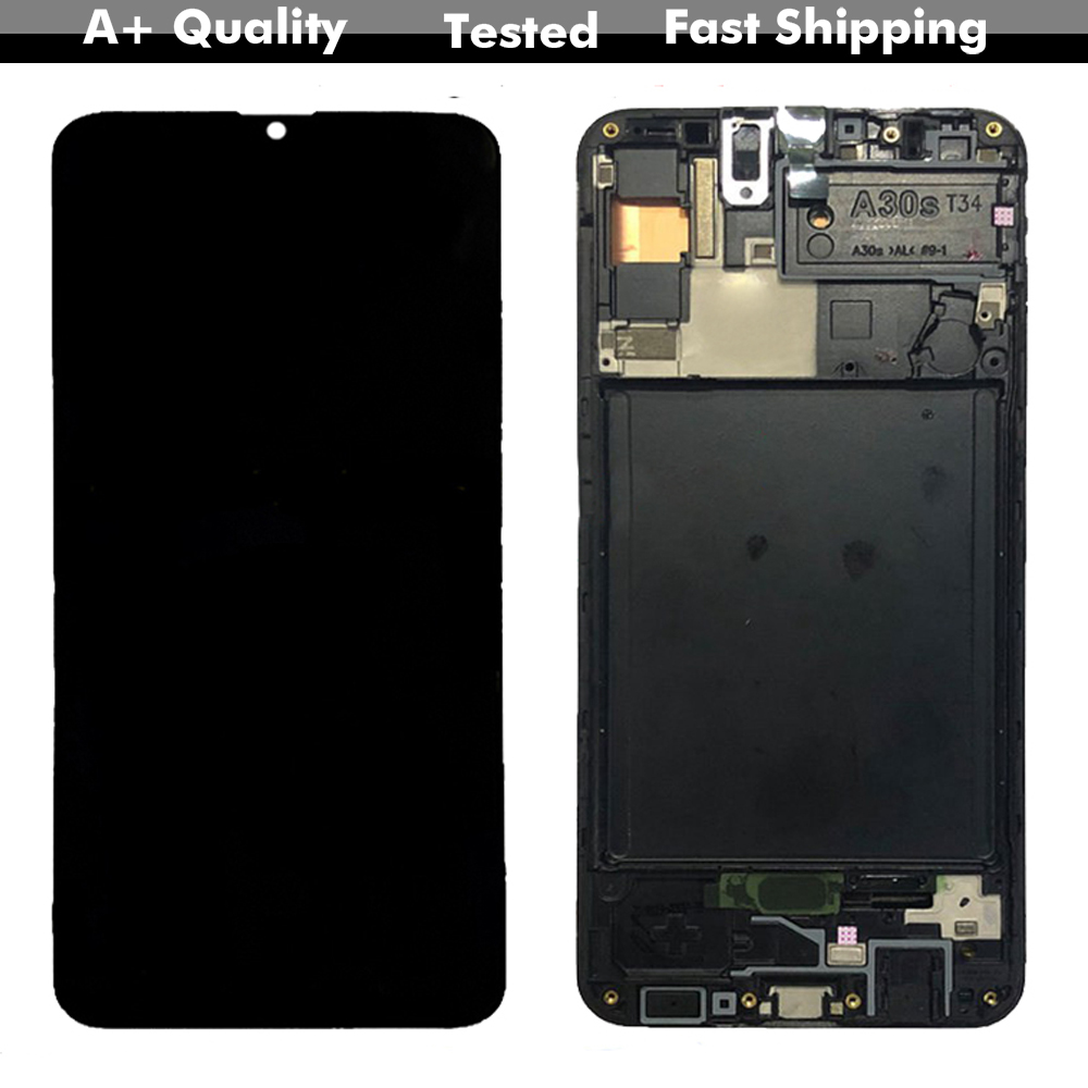 Original For <font><b>Samsung</b></font>-<font><b>galaxy</b></font> <font><b>A30s</b></font> 2019 SM-A307G/DS A307FN Display Screen Digitizer Touch Panel Glass Assembly Replacement image
