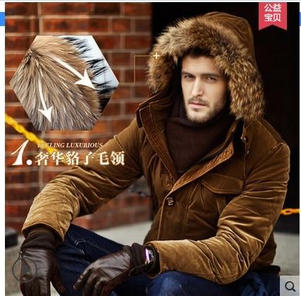 2019 hiver nouvelle laine col 90% canard vers le bas veste hommes affaires mode chaud épais court paragraphe bouffant manteau mâle marque vêtements - 2