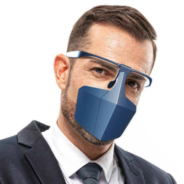 Reusable Dustproof Anti-Saliva Isolation Face Shield Protective Cover Mouth Mask Durable Ergonomic Office Mask