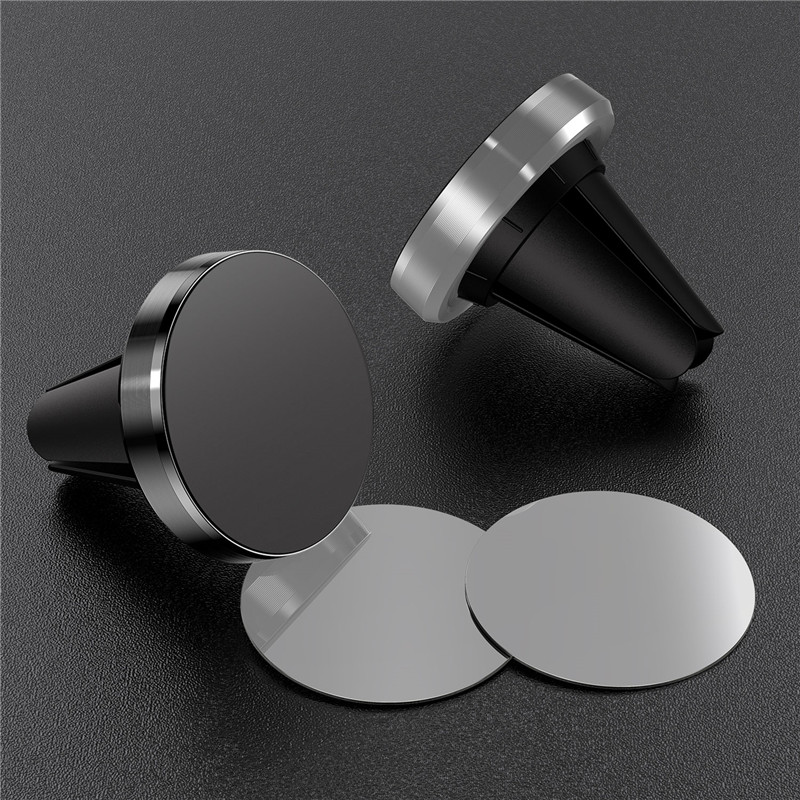 Metal Magnetic Car  Phone Holder Stand For Iphone 11 Xiaomi Mi Note 8 Redmi Note 8 Mini Air Vent Clip Mount Magnet Stand Holder