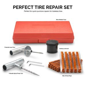 Image 2 - Kit de reparação de pneus van do carro da motocicleta ferramentas de reparo de pneus de emergência resistente sem câmara de ar pneu puncture repair kit