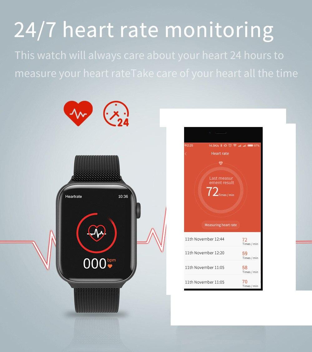 2021 iwo 14 relógio inteligente k8 44mm