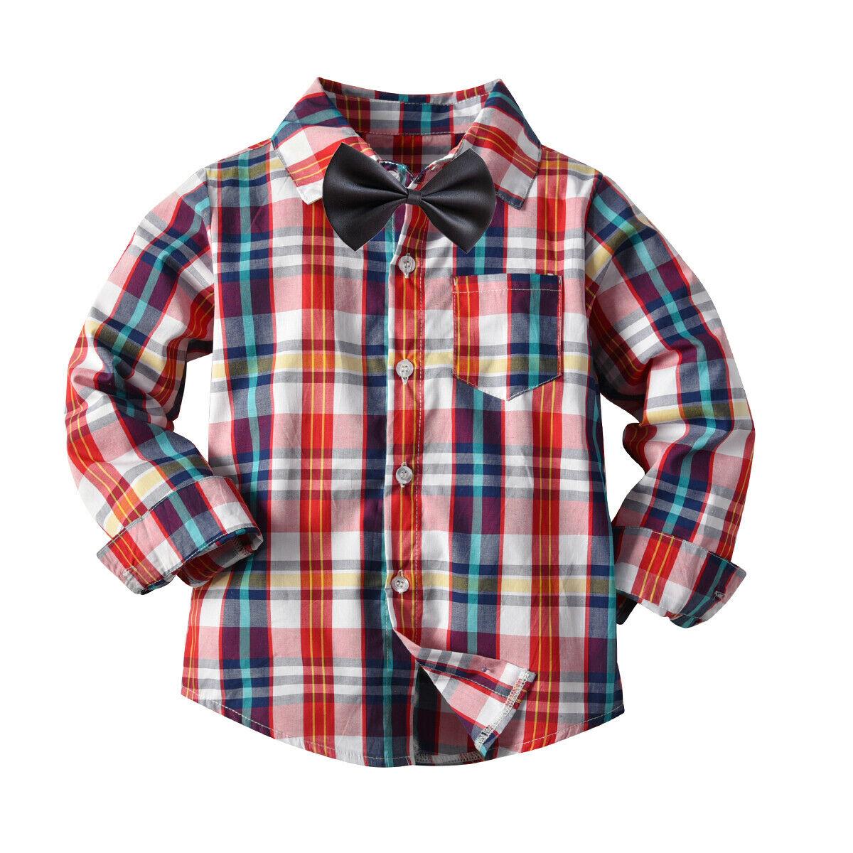 Emmaaby/Новинка года; классические рубашки в клетку с длинными рукавами и лацканами для мальчиков; сезон весна-осень топы с карманами; Повседневная рубашка для маленьких мальчиков детская одежда - Цвет: Blue Red