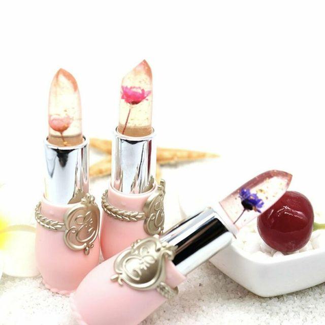 Flower Lipstick Color Jelly Transparent Temperature Change matte lipstick set 3