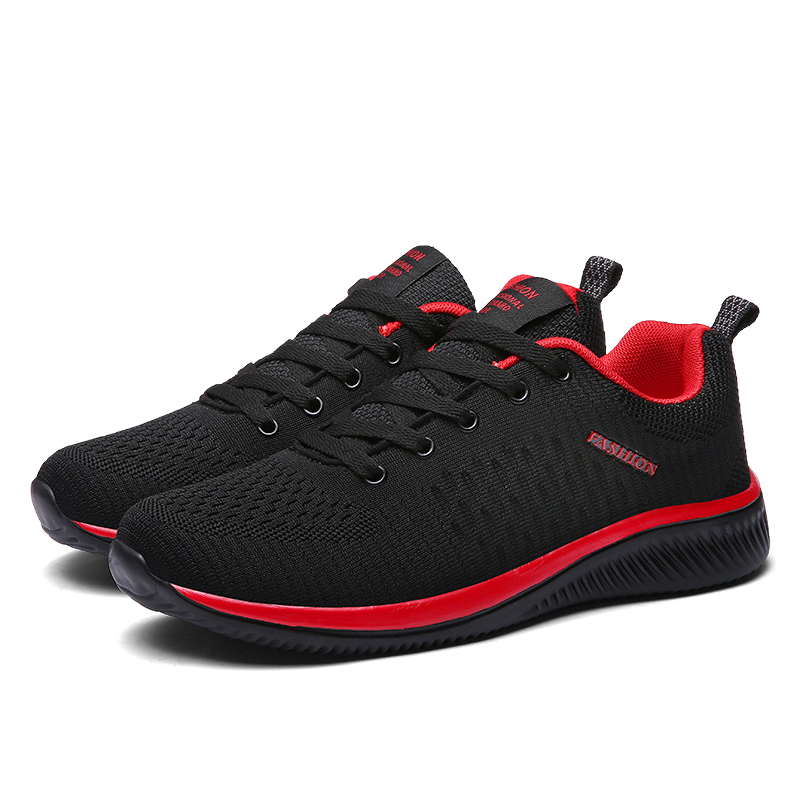 New Style Lace Up Male Sneakers Casual Breathable Mens Mesh Shoes Popular No-slip Men Shoes Tenis Masculino Zapatillas Hombre 66 5