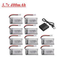 3.7V 400mAh Lipo Bateria Para H31 X4 H107 H6C KY101 E33C E33 U816A V252 Zangão RC Peças De Reposição 802035 3.7V Bateria Recarregável