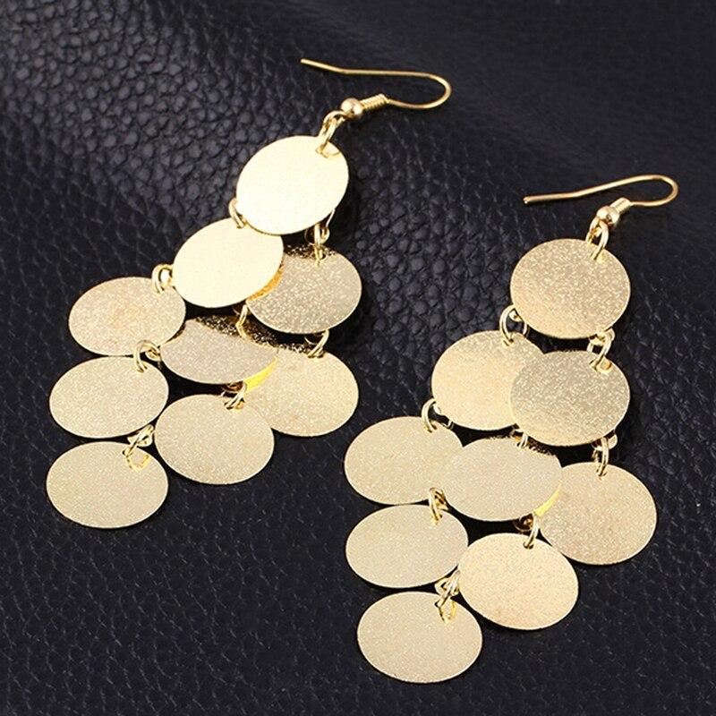 Европейская и американская мода панк рок ночной клуб преувеличенные матовые вафельные висячие серьги с кисточками XY E738|tassel drop earrings|tassel earringsdrop tassel earrings | АлиЭкспресс