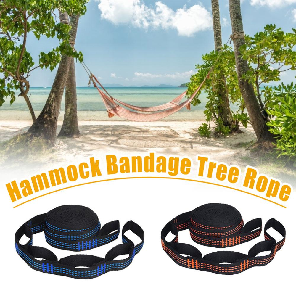 Reinforced Hammock Straps Polyester-Straps Black Barbed Outdoor 5-Ring High-Load-Bearing