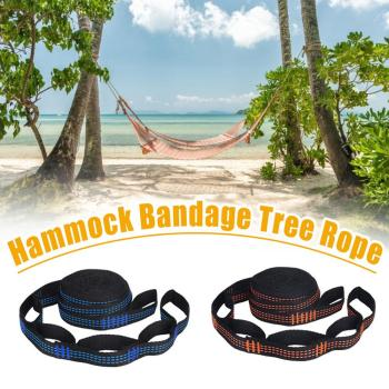 2 Pcs/Set Hammock Straps Special Reinforced Polyester Straps 5 Ring High Load-Bearing Barbed Black Outdoor Hammock straps 1
