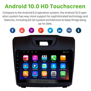 Image 2 - Seicane 9 inch Car Multimedia Player For Chevy Chevrolet S10 2015 2017 ISUZU D Max Android 10.0 Car Radio GPS Navigation System