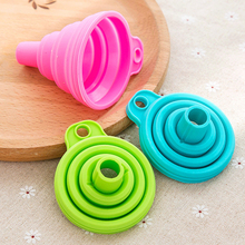 1 Pcs Mini Foldable Funnel Silicone Collapsible  Folding Portable Funnels Hangable Household Liquid Dispensing Kitchen Tools protable mini food grade silicone foldable funnels collapsible funnel hopper kitchen home cooking tools accessories gadgets 1pc