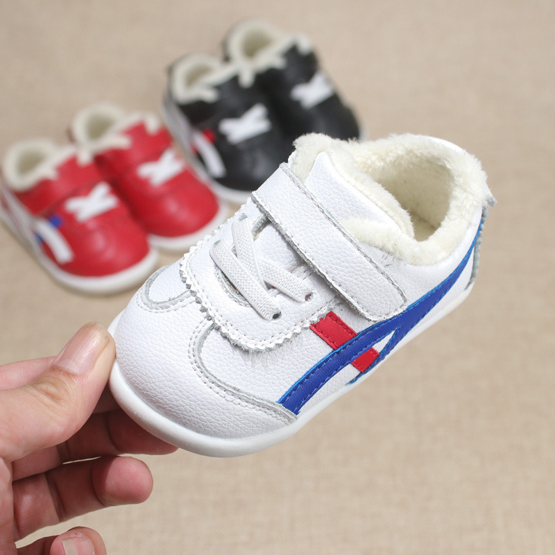 2020 Winter Plus Velvet 0-1-2-Year-Old Boys And Girls Children's Cotton Shoes Baby Toddler Shoes