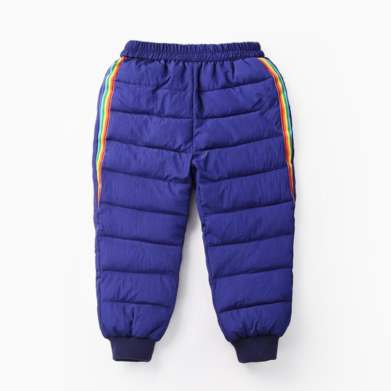 2020 New Boys and girls down cotton trousers 2-6 years old thick warm pants, baby winter trousers children's thick Sweatpants 2