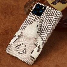 Чехол из натуральной змеиной кожи для телефона iphone 11 11pro