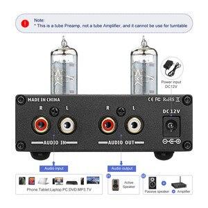Image 3 - AIYIMA 6K4 튜브 앰프 담즙 프리 앰프 HIFI 프리 앰프 고음 저음 조정 오디오 프리 앰프 DC12V 앰프 스피커 용
