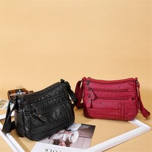 Image 2 - Ladies Multi pocket Messenger Bag High Quality Soft PU Leather Shoulder Bags Casual Crossbody Bags for Women 2020 Bolsa Feminina