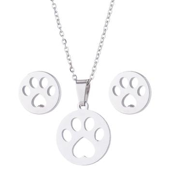 Dog Pendant Necklace Set 5