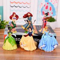 6 unids/set fantasía Hada princesa figura de acción juguetes Briar Rose Pocahontas Mulan Dianna Merida PVC Anime modelo Juguetes Para Niña