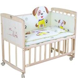 Bett Massivholz Farbe-freies Umwelt Freundliche Baby Bett Kinder Bett Neugeborenen Nähte Bett Baby Wiege Bett