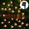 5m 7m  Solar Powered Lights Honey Bee Led String Lamp Light Outdoor Garden Fence Christmas Garland Lights Decorations promo