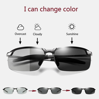 ZUEE vintage Sunglasses Mens Polarized Chameleon Glasses Day and Night Driver oversized sunglasses men polarized