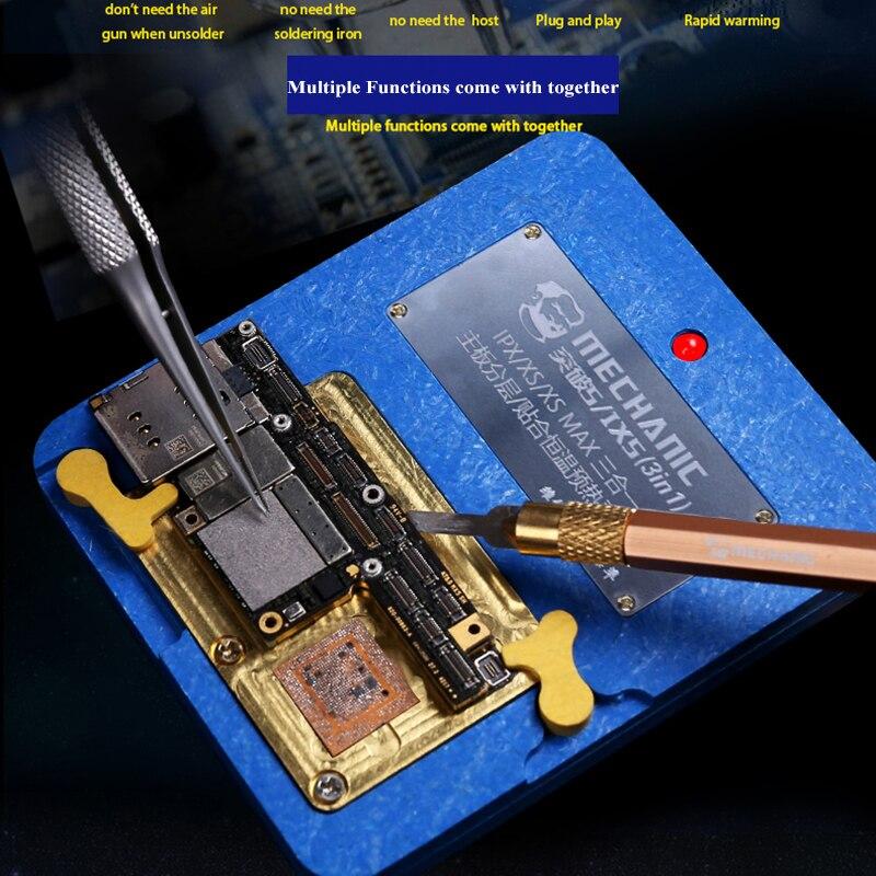Plate-forme de chauffage intelligente pour iPhone X/XS/XS MAX carte mère superposition séparateur outils de réparation dessoudage Station de reprise