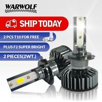 WARWOLF H7 LED H4 H11 סופר מואר רכב פנס נורות H8 H9 9006 HB4 9005 60W 10000LM 6500K LED אוטומטי פנס 12V