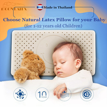 Moonlatex Children Thailand Natural Latex Baby Pillow Healthy Sleeping Bedding Orthopedic Kids Neck Child Oreiller