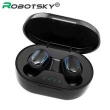 A7S TWS Bluetooth 5.0 écouteur stéréo sans fil casque bouton contrôle étanche Sport casque avec boîte de charge