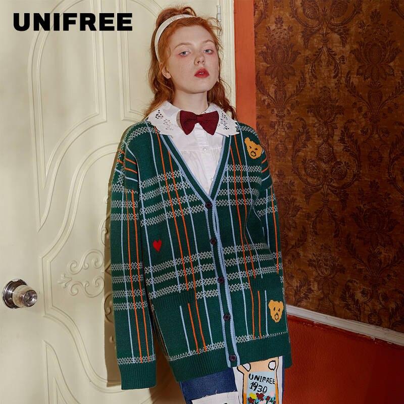 UNIFREE Women's Sweater Top 2019 New College Style Long-sleeved Loose U194K041ZZ