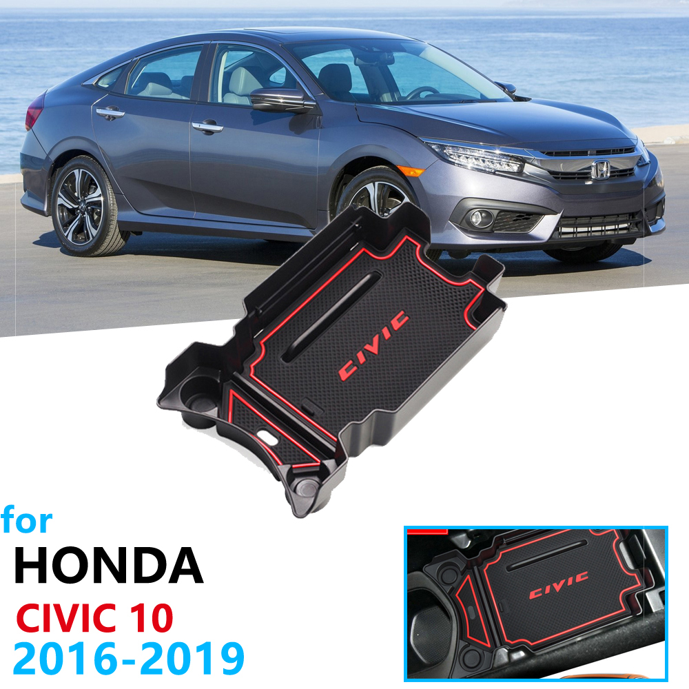 Car Organizer Accessories For Honda Civic 10 2016 2017 2018 2019 Armrest Box Storage Stowing Tidying FC FK FC1 FC2 FC5 FK4 FK7