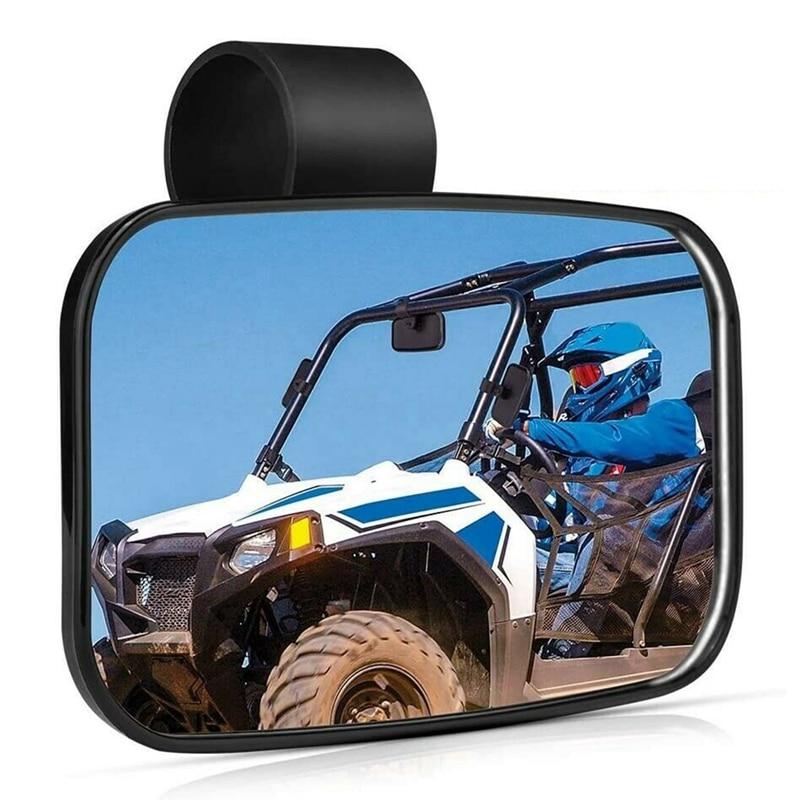 New UTV Rear View Center Mirror Fit for 1.5inch - 2inch Bar for Polaris,RZR,Rhino,Honda for SUV