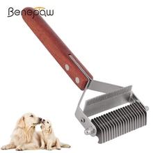 Dog-Brush-Comb Pet-Grooming-Tool Deshedding-Mats Removing Tangles Double-Head Benepaw