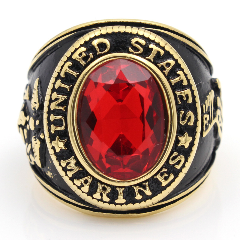 United Stated US Marine Corps <font><b>USMC</b></font> Military 316L stainless steel <font><b>Ring</b></font> image
