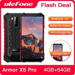 Ulefone Armor X5 Pro Android 10,0 прочный водонепроницаемый смартфон 4 Гб + 64 Гб мобильный телефон NFC 4G LTE мобильный телефон