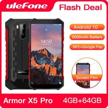 Купить Ulefone Armor X5 Pro Android 10,0 прочный водонепроницаемый смартфон 4 Гб + 64 Гб мобильный телефон NFC 4G LTE мобильный телефон