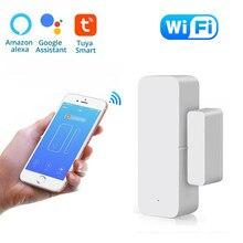 Tuya SmartLife с WiFi датчик для двери дверь открытой/закрытый детекторы, Wi-Fi, app-уведомление оповещения аварийной сигнализации Поддержка Alexa Google Home